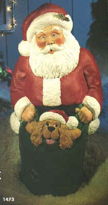 42inch Santa w/Puppy - Item Number GF C4730-Illuminated