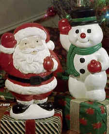 18inch Promo Santa and Snowman by Empire Ind Inc