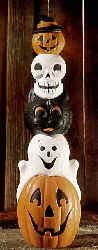 Halloween Light Up Totem pole