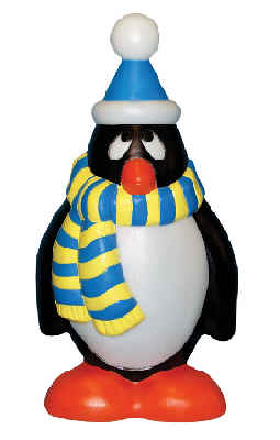 Holiday Penguin Yellow and Blue