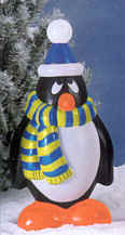 Light Up Holiday Penguin Yellow and Blue