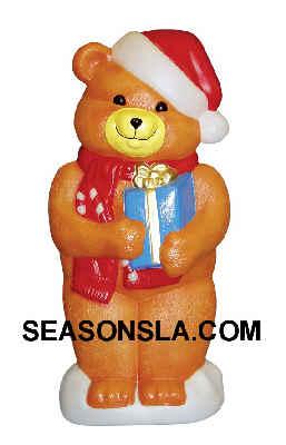 Item Number GF C5351 Tan Christmas Teddy Bear - Illuminated, by General Foam Plastics Corp.