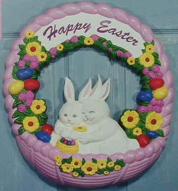 Easter Wreath - NOT Illuminated - Item Number EII55830