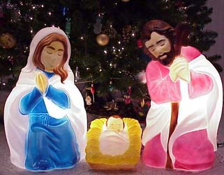 Outdoor Nativity Set By General Foam Plastics Corp   Light Up Outdoor  Lighted Nativity Sets