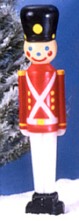 Illuminated 32 inch Toy Soldier with Black Hat. Click to see a LARGER view.